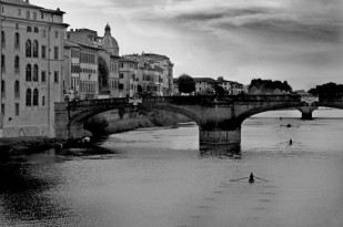 Il Vogatore (Rowers) - The River Arne, Florence, Italy